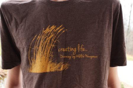 Drumming Log Wildlife Management T-Shirt
